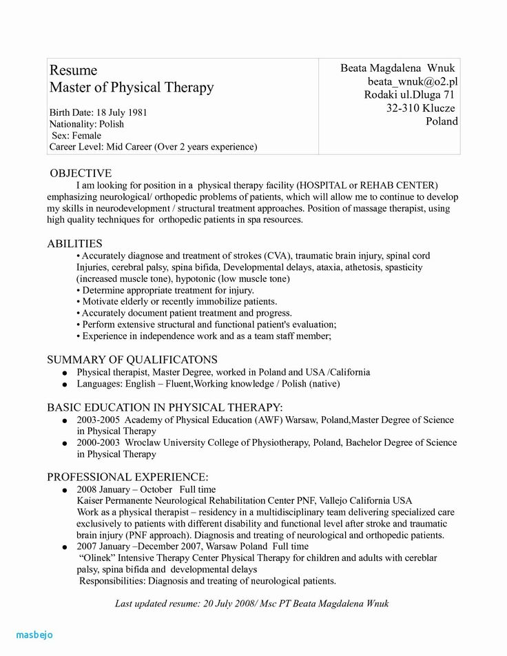 Massage therapist Resume Examples Awesome 10 Resume for
