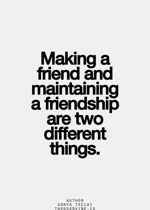Friend vs. Friendship