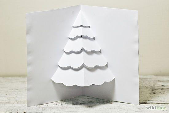 How to Make a Christmas Tree Pop up Card (Robert Sabuda Method)