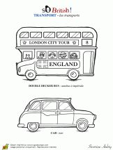 Coloriage Angleterre So British sur Hugolescargot.com