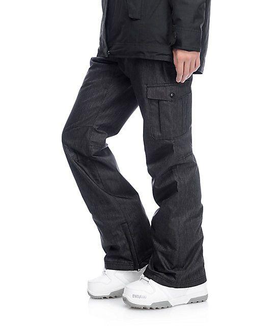 Aperture Verty 10K Black Cargo Snowboard Pants