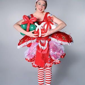 Candy Cane Balloon Modelling Elf For Hire Our Christmas Themed Balloon Modeller Is Available For