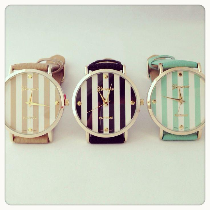 Stripes watch.