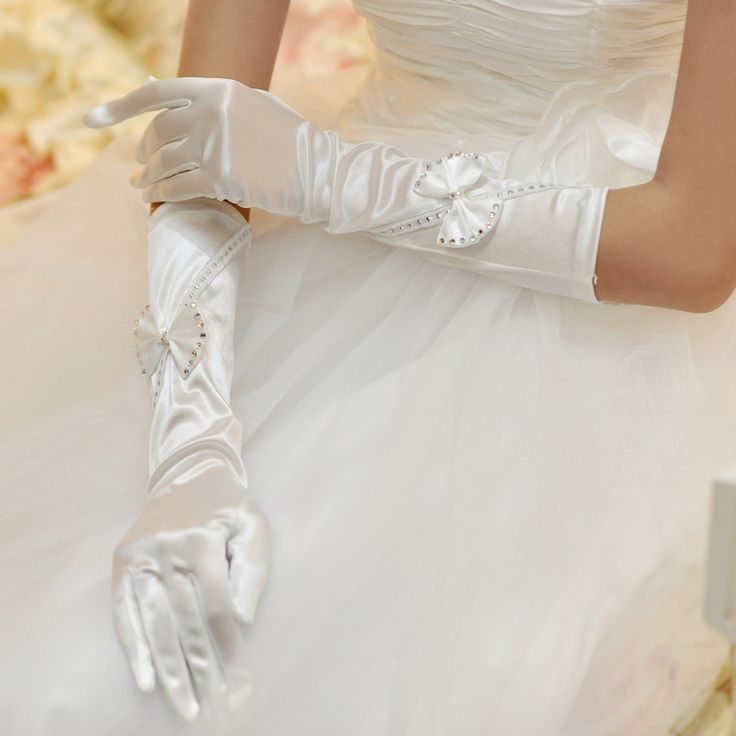Lace embroidered sequins Wedding gloves