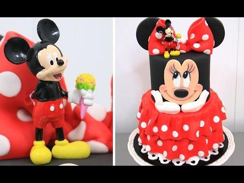 How To Make a Disney MINNIE MOUSE Cake - Pastel de la Minnie by Cakes StepbyStep - YouTube