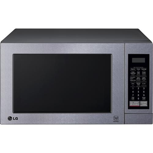LG - 0.7 Cu. Ft. Compact Microwave - Stainless-Steel - Larger Front