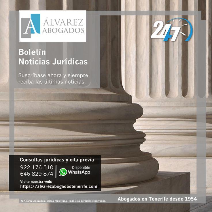 Boletín Noticias Jurídicas. Suscríbase y reciba las últimas noticias. https://alvarezabogadostenerife.com/?p=9253