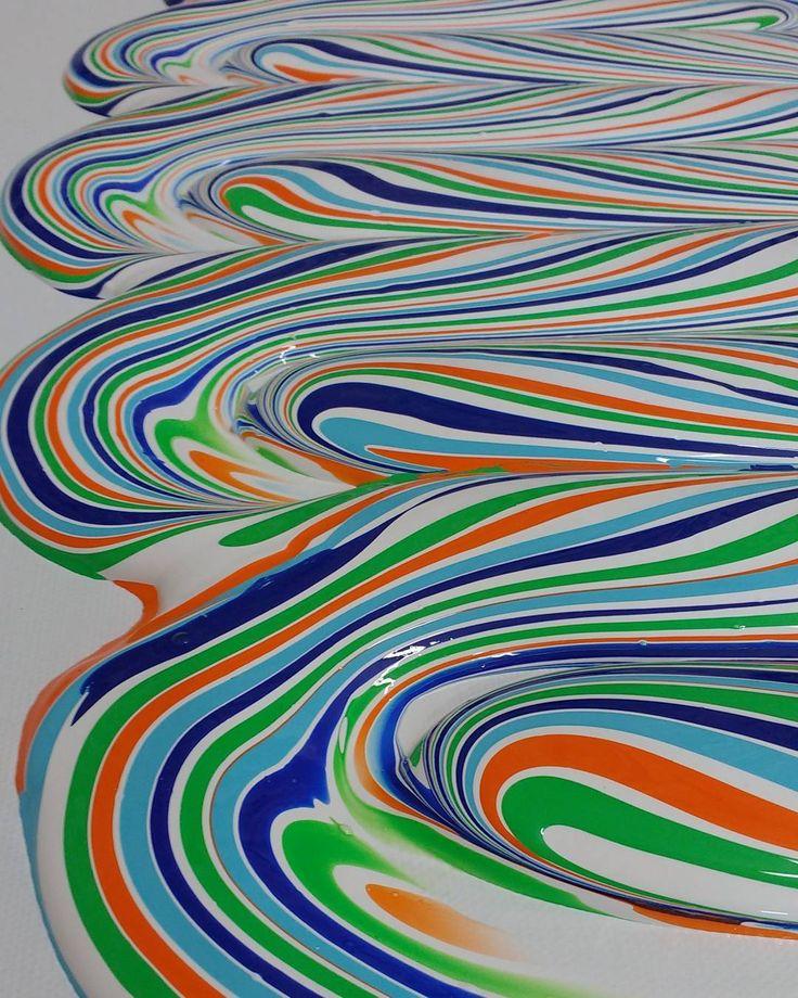 Detail - work in progress  #dericksmith #process #detail #wip #dublin #modernart #contemporaryart #paint #painting #futureislands #colourstudy #paintings #fineart #art #colourful #holdyourtongue #flow #love #melt #drip #peinture #blend #acrylic #coffee #dance