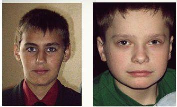 Ruben(14) e Max(13) alla data della scomparsa