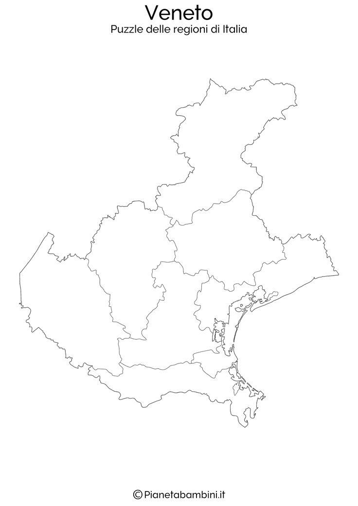 Ecco il puzzle delle regioni d'Italia composto da 20 fogli A4 (uno per regione) da stampare, ritagliare e incollare su una superfice di 120x120 cm