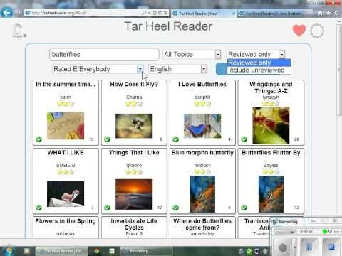 A short video on how to access online books at www.tarheelreader.org, a site with Free, easy-to-read, accessible online books (also has writing component).