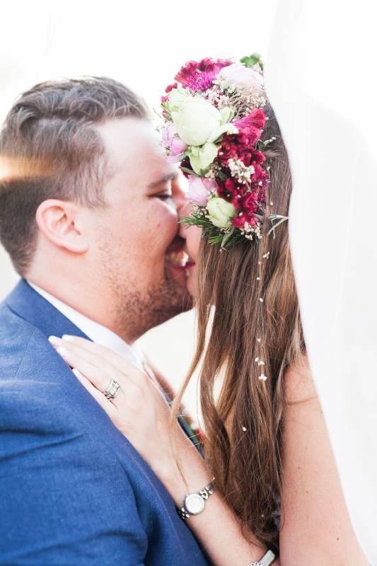 Our beautiful bohemian bride & her groom, just married. Him&Her Pictures