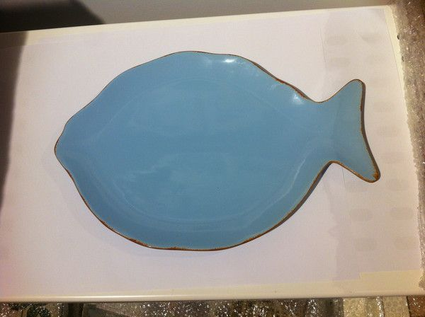 ST22 Fish Plate with Border 33cm