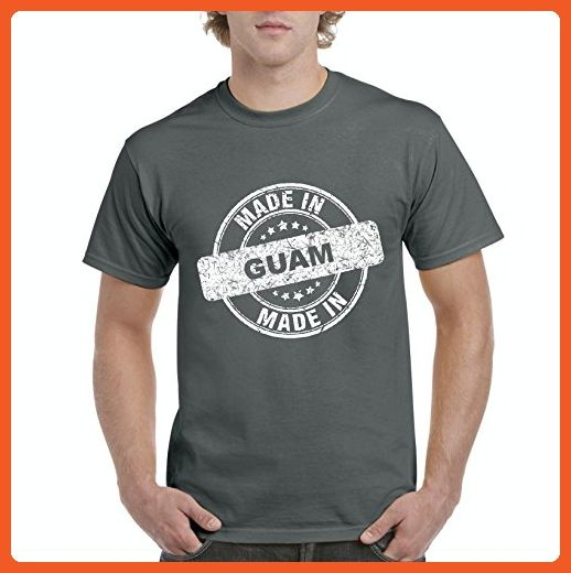 Ugo Made in GU Guam Flag Hagatna Dededo Travel Map Home of University of Guam UOG Men's T-Shirt Tee - Cities countries flags shirts (*Partner-Link)