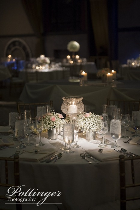Winter Wedding Decor White Pink Blue Babys Breath The Bell Event