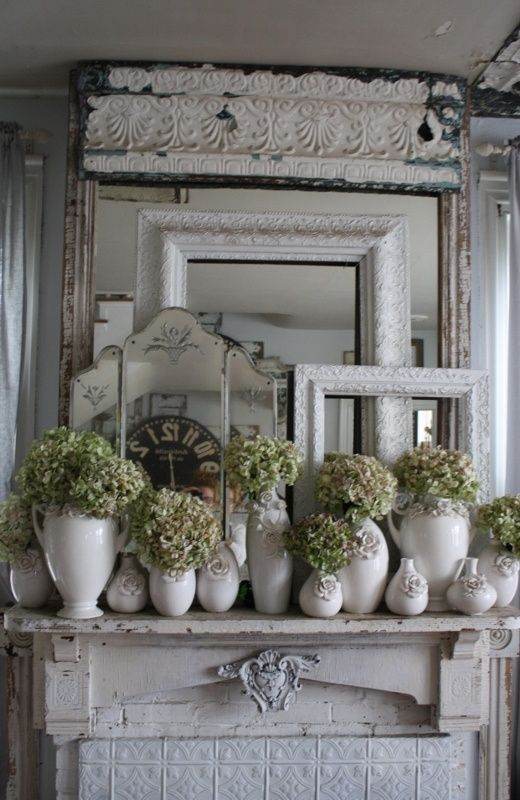 best 25 shabby chic mantle ideas on pinterest chabby. Black Bedroom Furniture Sets. Home Design Ideas
