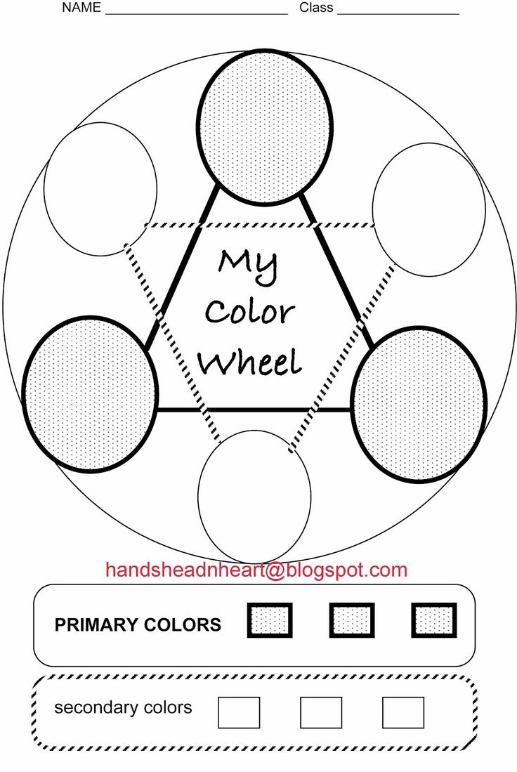 Color theory worksheet for kids - Hands Head N Heart In The Artroom Color Wheel