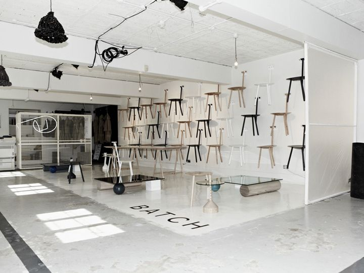 The Back Room pop up by Studio Toogood, London:According to Toogood, the space is a 'celebration of the post-industrial era' and seeks to explore the idea of hand-made, small-scale manufacturing. She says in this era, small collectives are reappearing and using their own skills and resources to make and sell direct.