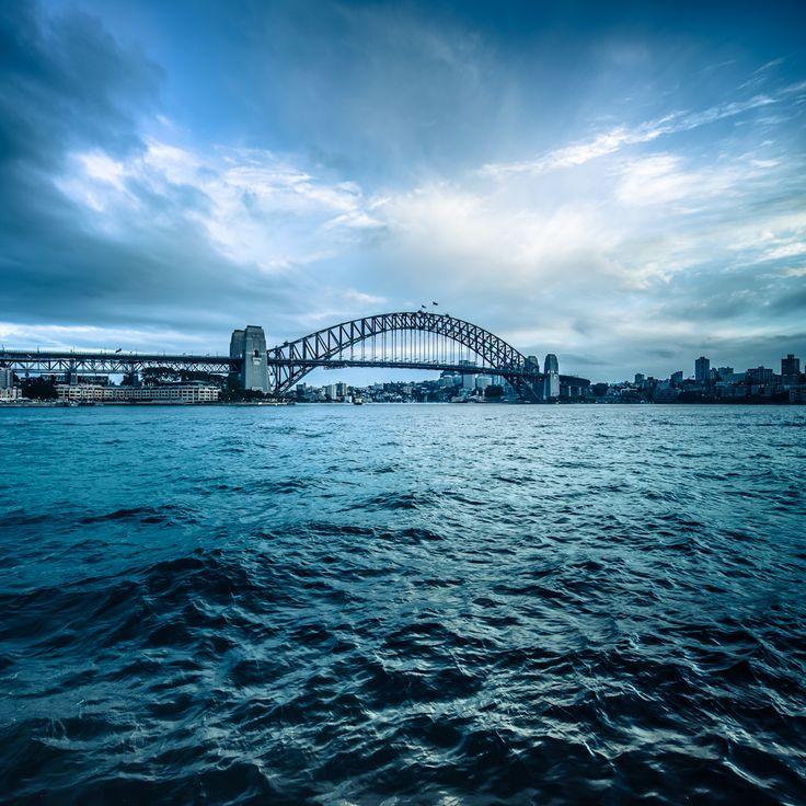 Sydney Harbour Bridge and Sydney Harbour.