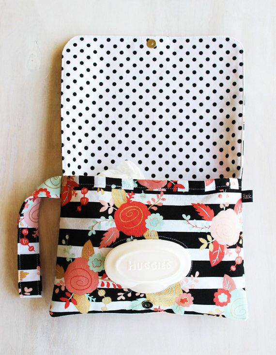 Diaper Clutch Coral and Gold Mint and Coral by BlackArrowStudio