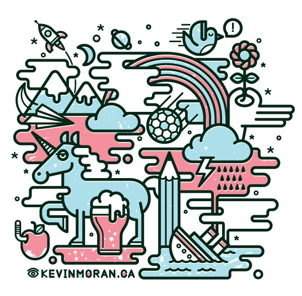 Self-Promo Tote Bag by Kevin Moran, via Behance