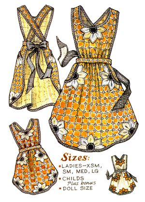Bloomin Apron Pattern (for sale). This is Just the style I was looking for. Finally, no strip around the neck !!!