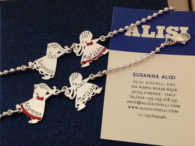 """Un regalo """"doppio"""" pensato per due sorelle inseparabili.... a ciascuno il suo! Bracciali in argento e smalto!"""