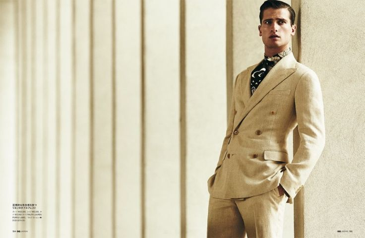 Made in Italy: GQ Japan Does Chic Spring Fashions -Tom is dapper in a double-breasted linen suit  Read More at http://www.thefashionisto.com/made-in-italy-gq-japan-does-chic-spring-fashions/, Copyright © The Fashionisto