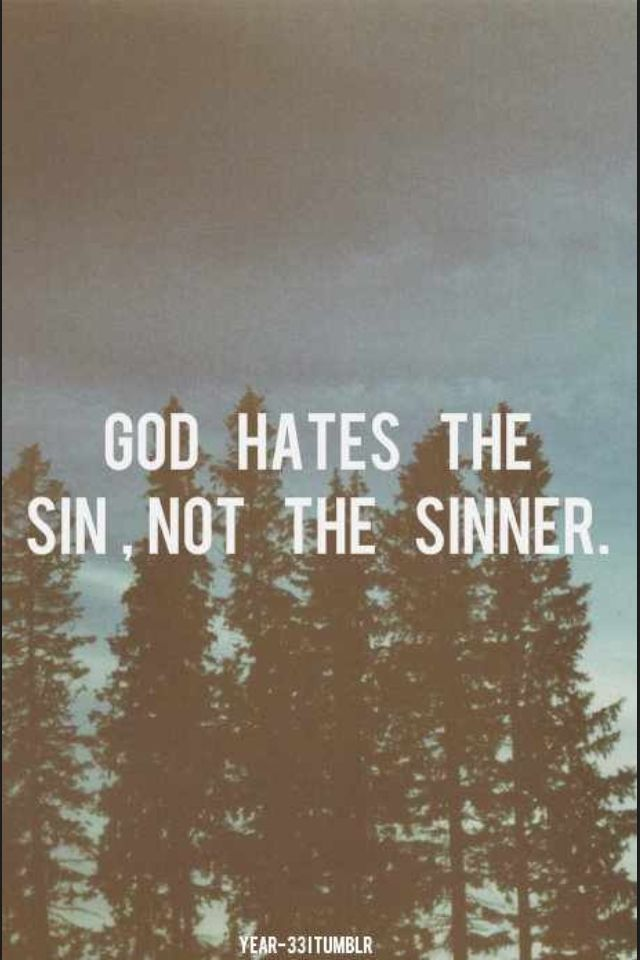 essay on hate the sin not the sinner Yes yes oh not that easy shoot alright, then i'll explain myself see, once upon a time, a long, long time ago, i believed in love the sinner, hate the sin as though it was the gospel truth.