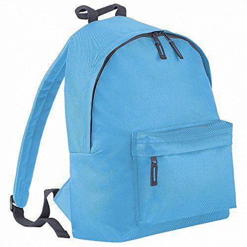 Beechfield Childrens Junior Big Boys Fashion Backpack Bags/Rucksack/School (One Size) (Surf Blue/ Graphite grey)