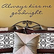 decal: Kiss Me, Wall Decal, Goodnight, House