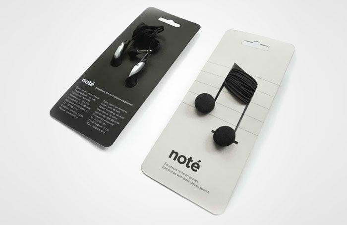 Note Headphones http://www.boredpanda.com/creative-packaging/