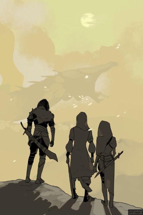 Jonathan Shadowhunter, David and Abigail gaze upon a demon of the desert! (its a big one, good luck guys)