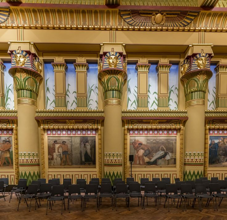 Egyptian revival is an architectural style that uses the