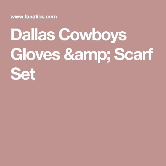 Dallas Cowboys Gloves & Scarf Set