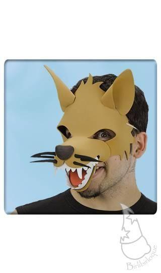 Máscara de lobo en EVA, accesorio para disfraces
