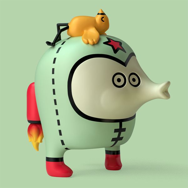 """Caspito"" of The Barbatonics (vinyl toy)."