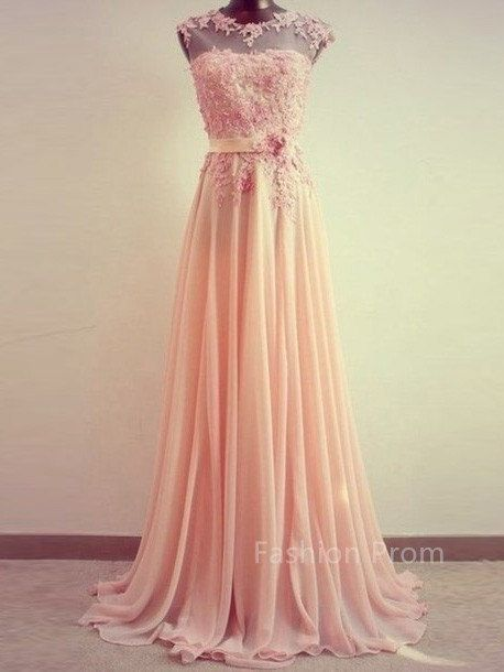 Custom Made Chiffon FloorLength Lace van FashionPromDresses op Etsy, $188.99
