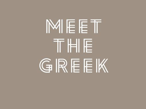 meet the greek by http://www.endofwork.com.au/portfolio.html: Logos, Greek Restaurant, Brand Identity, Restaurant Design, Greek Branding, Design Work, Endofwork Meetthegreek 01, Typography