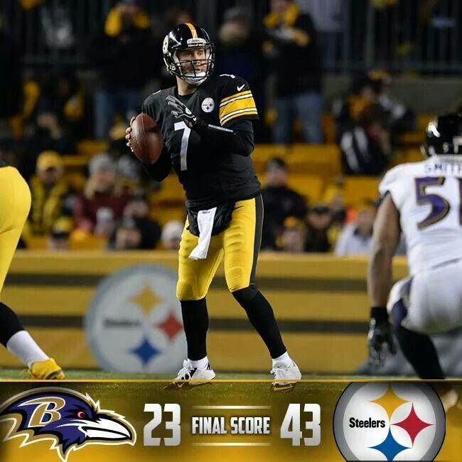 Nothing like a Steelers victory but a win against the Ravens is that much sweeter!