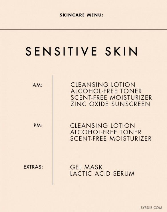 Skincare tips for sensitive skin. // #Skincare #Tips