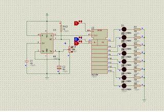 Shift registers 74LS164 Circuit