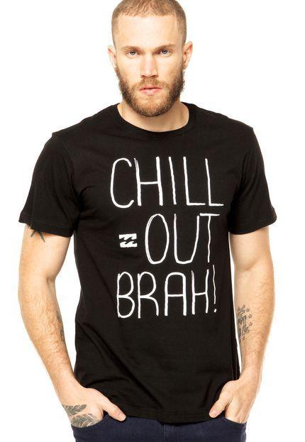 Camiseta Billabong Chill Out Preta - Compre Agora   Dafiti Brasil