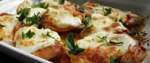 Hähnchenbrust mit saurer Sahne und Käse