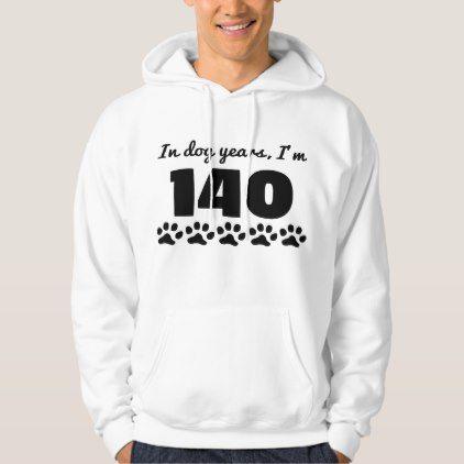 #Dog Years 20th Birthday Hoodie - #giftidea #gift #present #idea #number #twenty #twentieth #bday #birthday #20thbirthday #party #anniversary #20th
