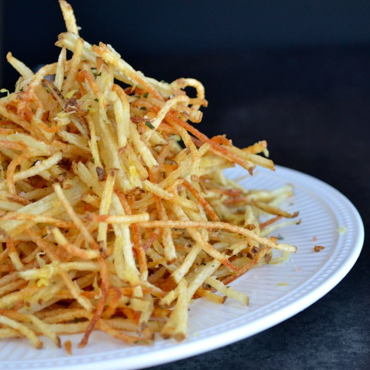 Fairy Fries - matchstick fries tossed with lemon and rosemary...addicting!