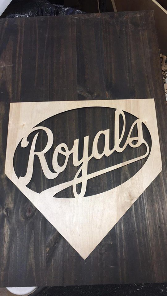 Baseball Door Hanger, Kansas City Door Hanger, Royals Door Hanger, Baseball Door Hangers, Baseball Decor, Baseball Wall Decor by INKDBYDESIGN on Etsy