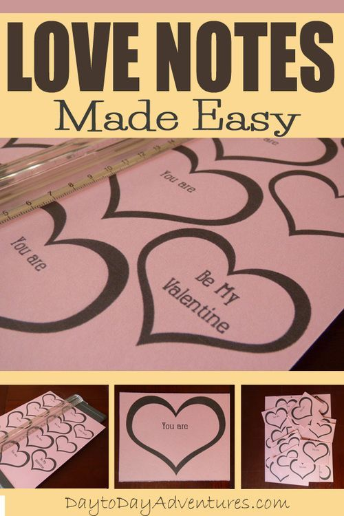 Fun easy way to build your loved ones up! Free printable love notes! - DaytoDayAdventures.com