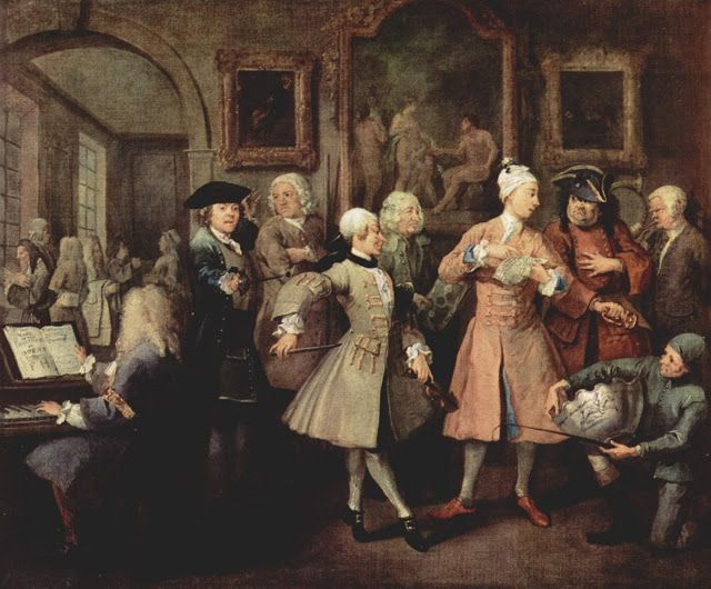The life of a libertine,The levee by William Hogarth,1732-35