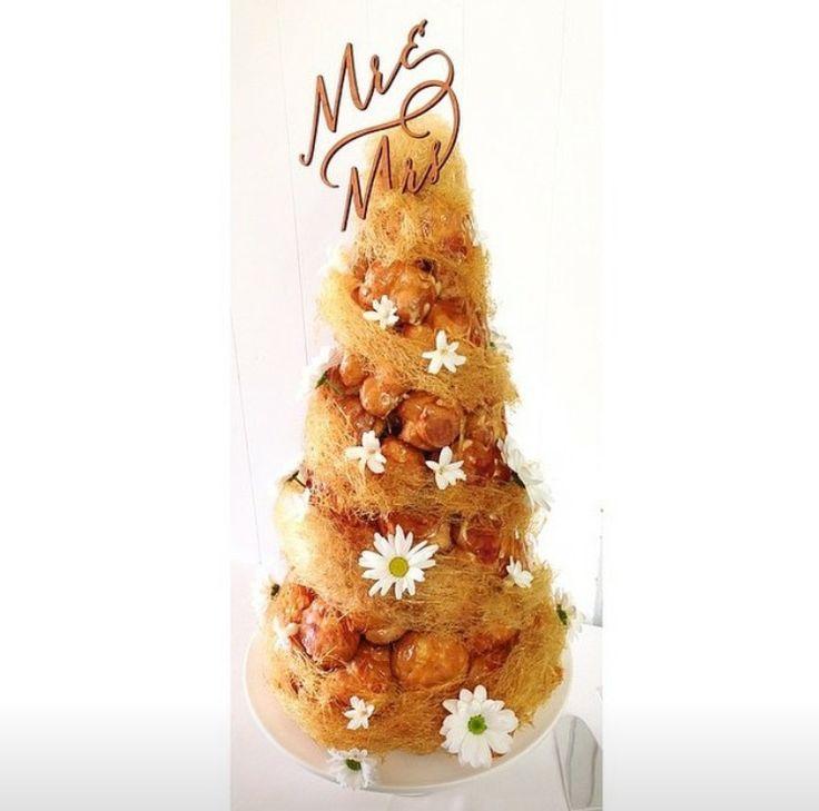 Croquembouche wedding cake #croquembouche #wedding #celebrate #french #caramel #choux #showstopper #bellsatkillcare #bellsdolci